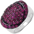 Malaika Sterling Silver Ruby Ring