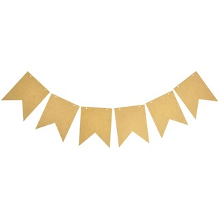 """Beyond The Page MDF Ribbon Pennant-6""""X5"""" Pieces 6/Pkg"""