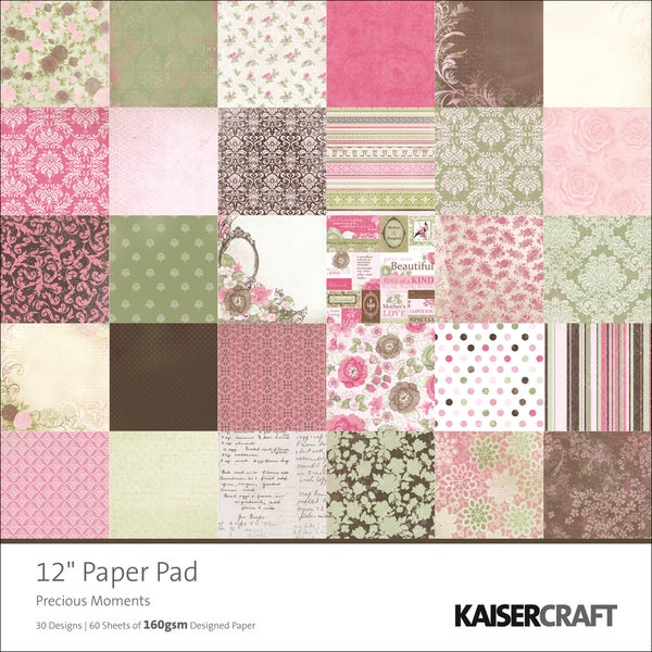 """Precious Moments Single-Sided 160gsm Paper Pad 12""""X12""""-60 Sheets - 30 Designs/2 Each"""
