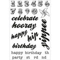 "Save The Date Clear Stamps 6.25""X4"" (16x10cm)-Words & Numbers"