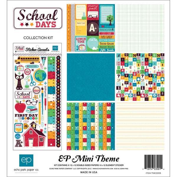 """School Days Collection Kit 12""""X12""""-"""