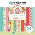 So Happy Together Double-Sided Cardstock Pad 6&quot;X6&quot; 24 Sheets-