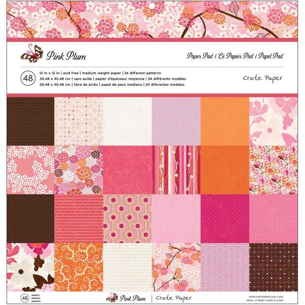 "Crate Paper Paper Pad 12""X12""-Pink Plum"
