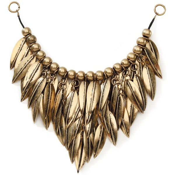 Styled by Tori Spelling (TM) Multi Leaves Necklace Bottom-Antique Gold 1/Pkg