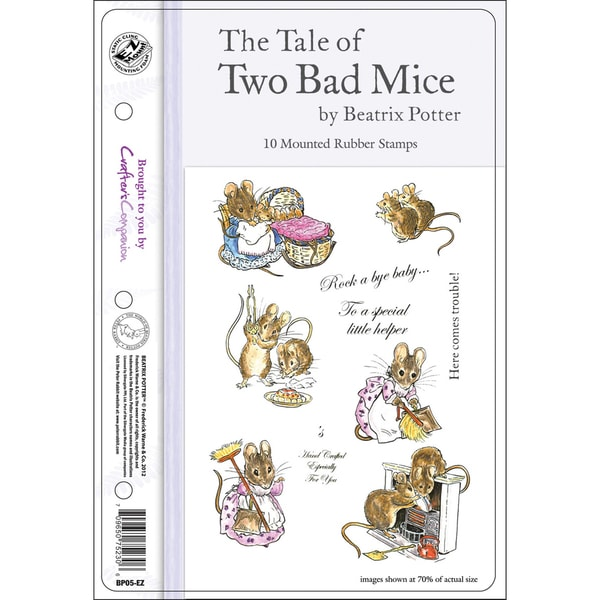 "Beatrix Potter EZMount Stamp Set - 5.5""X8.5""-The Tale Of Two Bad Mice"