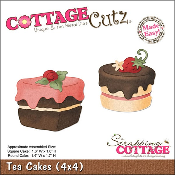 CottageCutz Die 4X4-Tea Cakes Made Easy