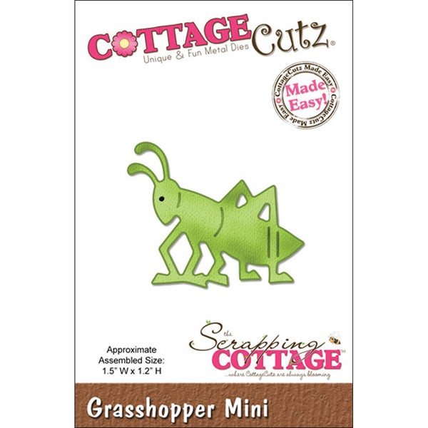 "CottageCutz Mini Die 1.75""X1.75""-Grasshopper Made Easy"
