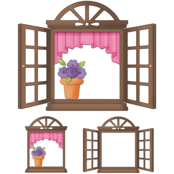 """CottageCutz Die 4""""X6""""-Springtime Window"""