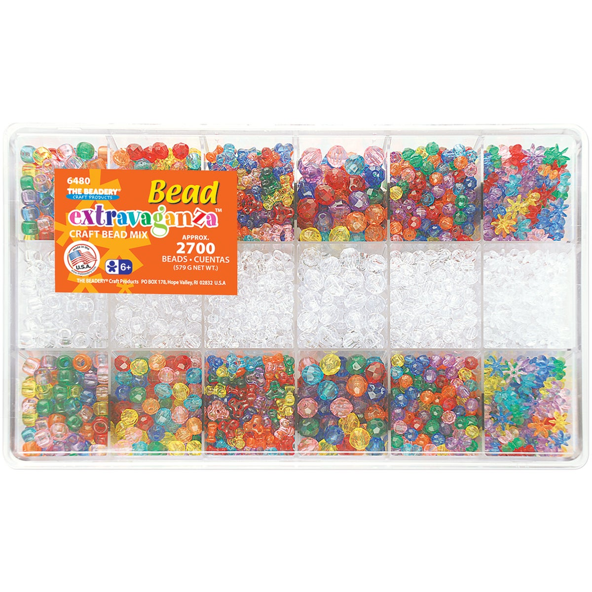 Giant Bead Box Kit 2700 Beads/Pkg-Multi Color