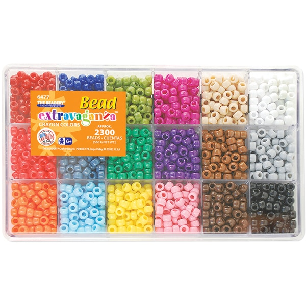 Giant Bead Box Kit 2300 Beads/Pkg-Crayon