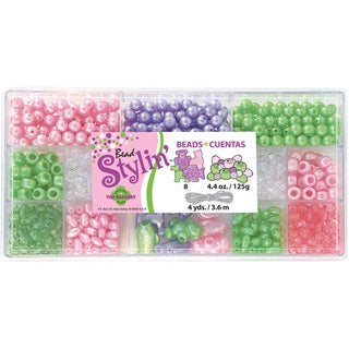 Bead Stylin' Bead Box Kit 4.4 Ounces/Pkg-Mint Pastel