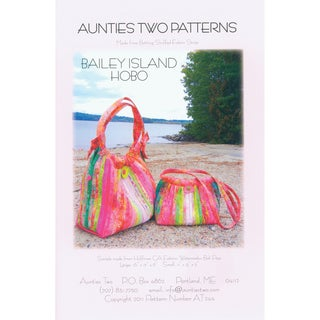 Aunties Two Patterns - Bailey Island Hobo Bag Pattern Booklet