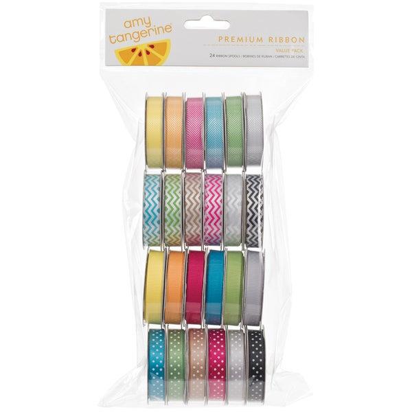Amy Tangerine Sketchbook Value Pack Premium Ribbon 24 Spools-