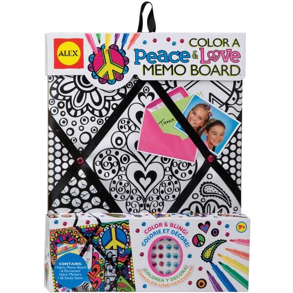 Color A Peace & Love Memo Board Kit-
