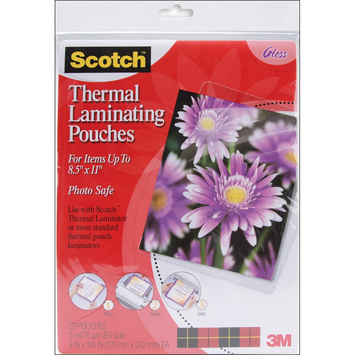"Scotch Thermal Laminator Pouches 20/Pkg-9""X11.4"""