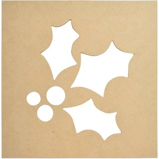"""Beyond The Page MDF Silhouette Wall Art 12""""X12"""" Frame-Holly"""