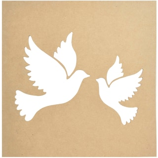 """Beyond The Page MDF Silhouette Wall Art 12""""X12"""" Frame-Doves"""
