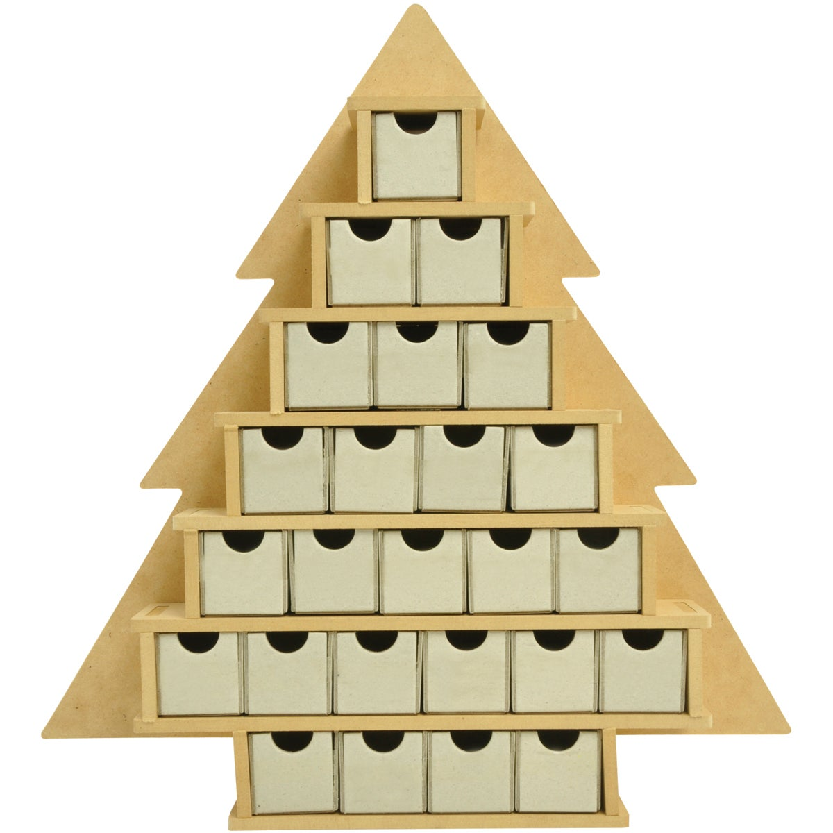 "Beyond The Page MDF Small Tree With Drawers Advent Calendar-15.25""X16""X2"""