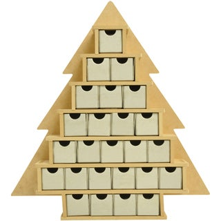 """Beyond The Page MDF Small Tree With Drawers Advent Calendar-15.25""""X16""""X2"""""""