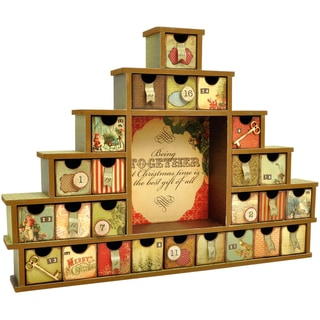 Beyond The Page MDF Shadow Box With Drawers Advent Calendar-14.5