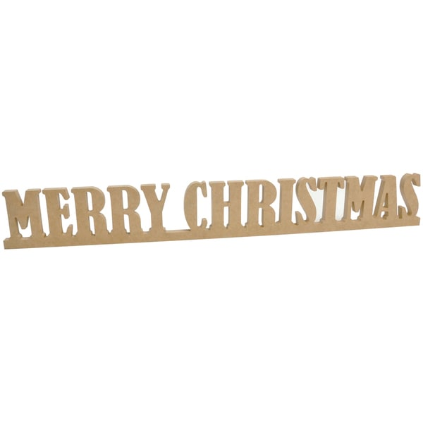 """Beyond The Page MDF Merry Christmas Standing Words-25""""X3""""X.5"""""""