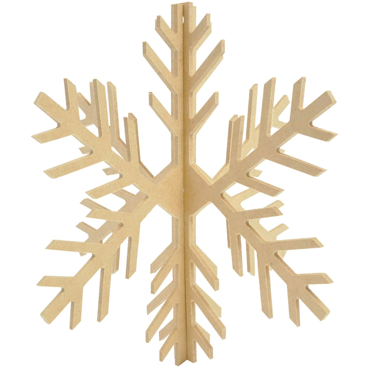 "Beyond The Page MDF Dimensional Slot Snowflake-8.5""X8"" Assembled"