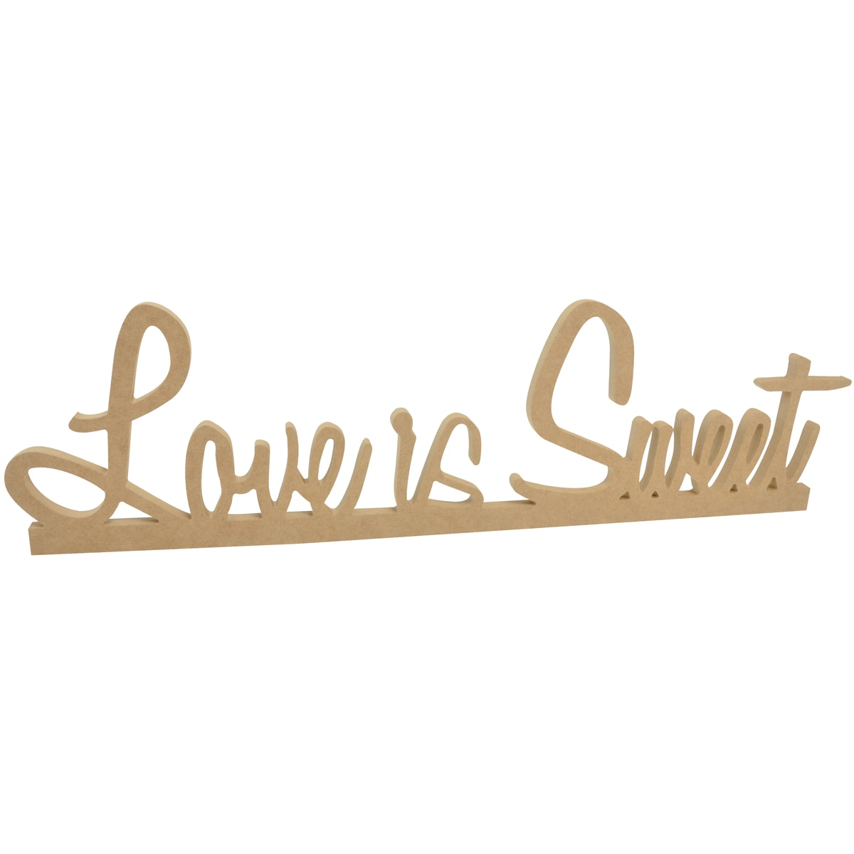 """Beyond The Page MDF Love Is Sweet Standing Words-23""""X6.5""""X.5"""""""