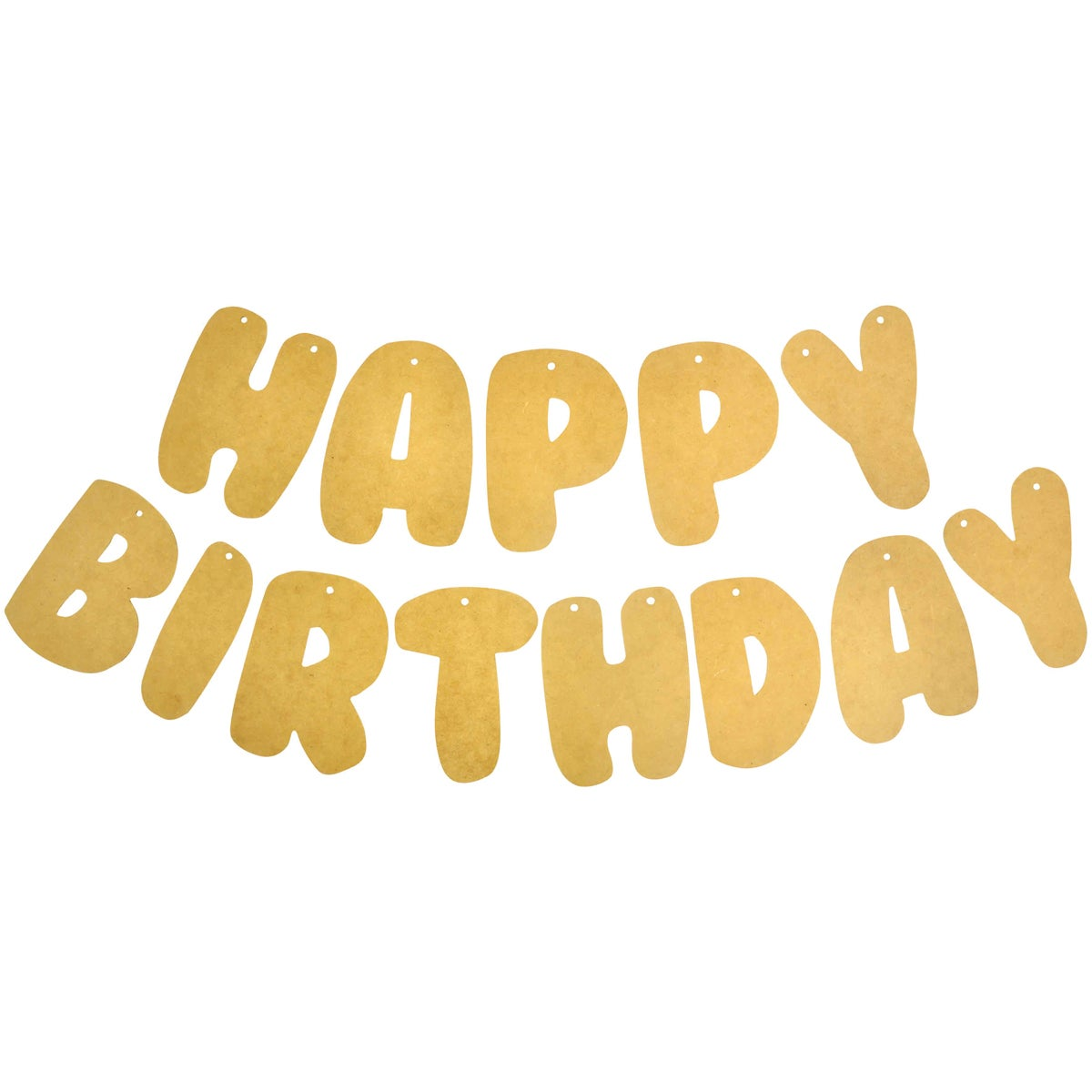"""Beyond The Page MDF Happy Birthday Banner-4.5""""X6.25""""X.25"""" Pennants"""