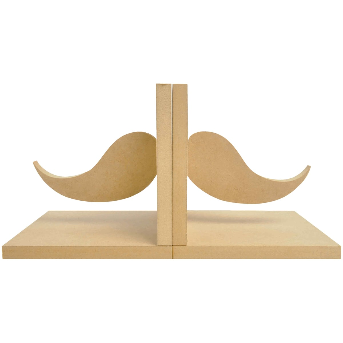 "Beyond The Page MDF Moustache Bookends-5.5""X5.5""X5"""