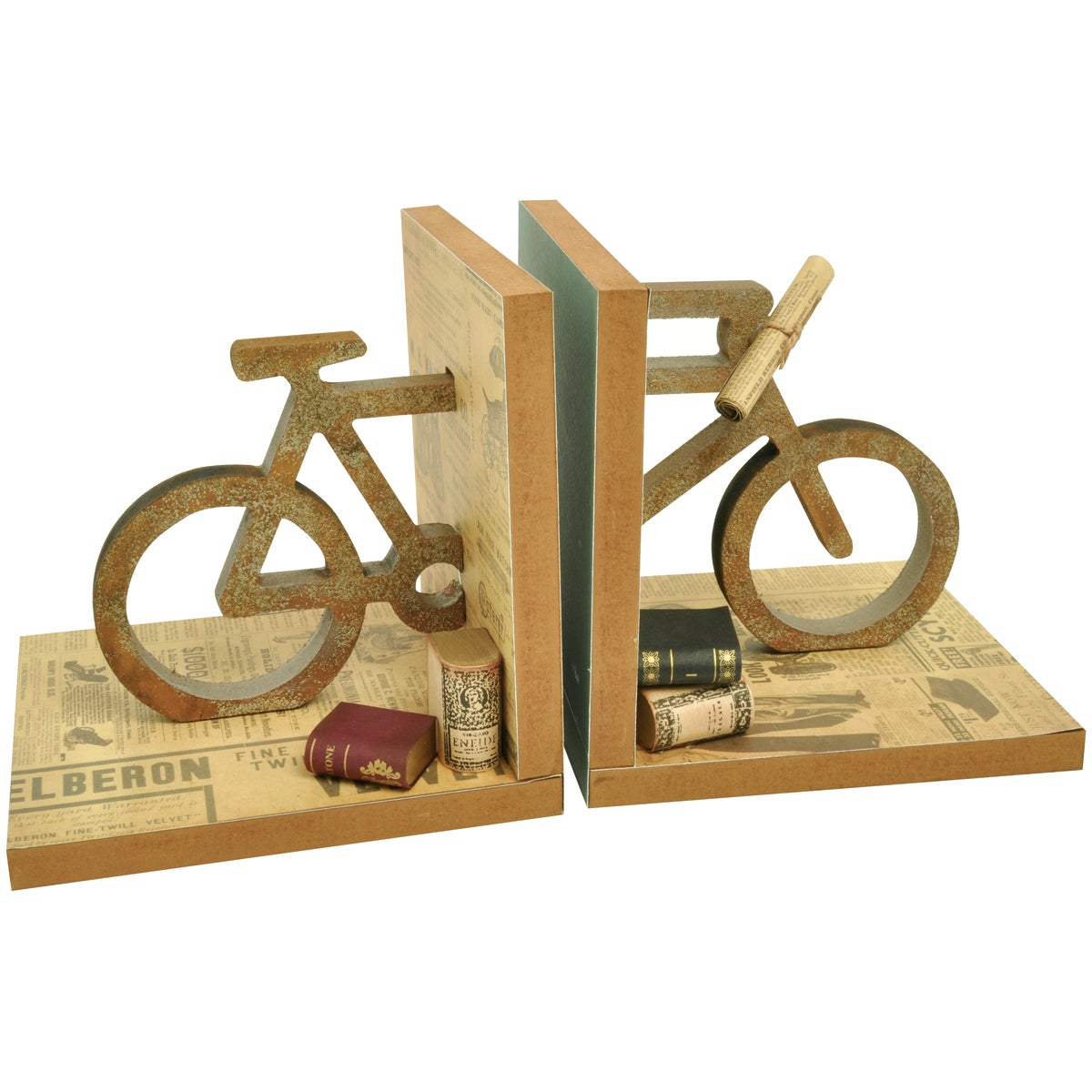 "Beyond The Page MDF Bicycle Bookends-5.5""X5.5""X5"""