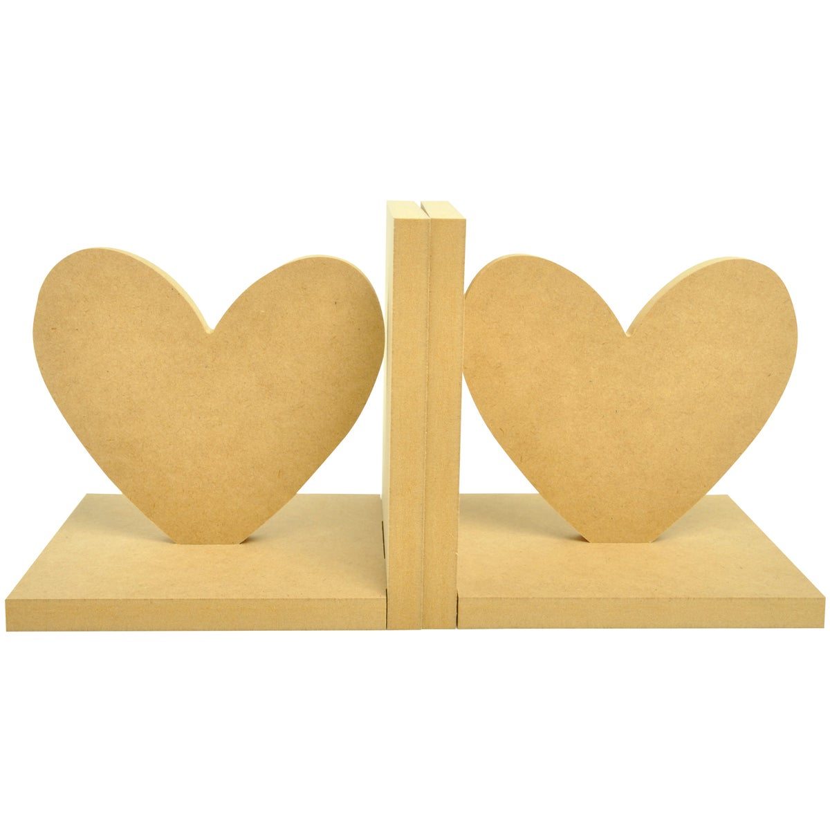 "Beyond The Page MDF Heart Bookends-5.5""X5.5""X5"""