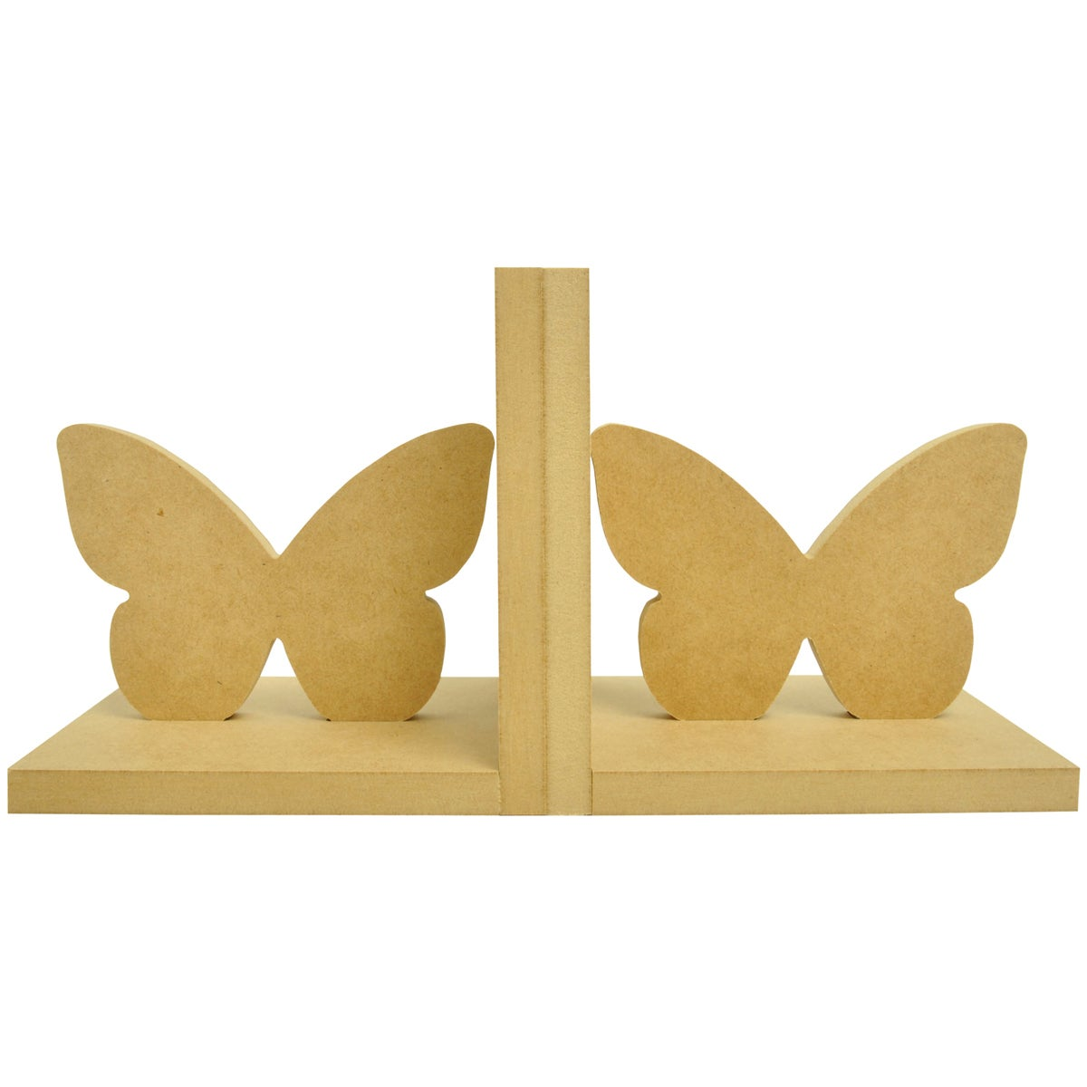 "Beyond The Page MDF Butterfly Bookends-5.5""X5.5""X5"""