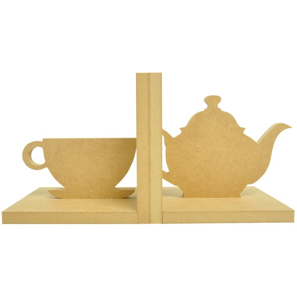 Beyond The Page MDF Tea Cup Bookends-5.5X5.5X5