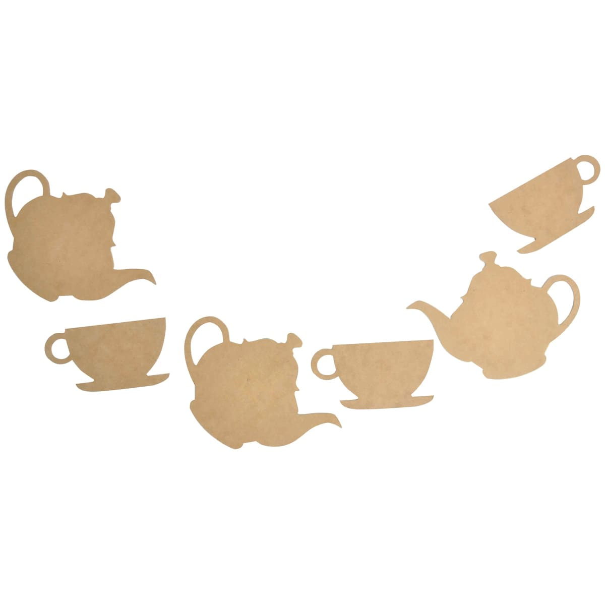 "Beyond The Page MDF Tea Party Pennant-Pieces Up To 7.75""X5.75"" 6/Pkg"
