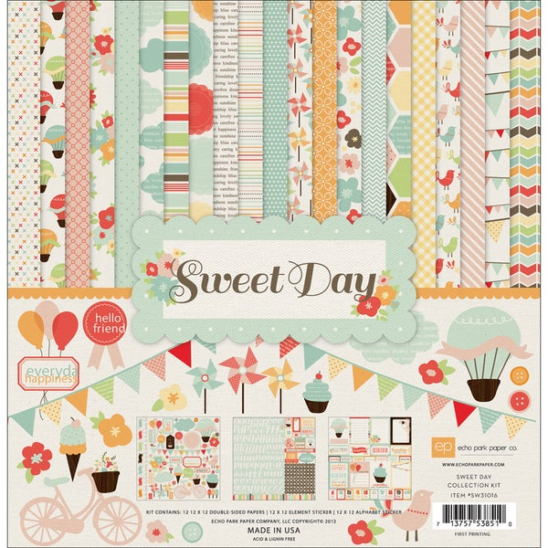 """Sweet Day Collection Kit 12""""X12""""-"""