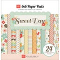 "Sweet Day Double-Sided Cardstock Pad 6""X6"" 24 Sheets-"
