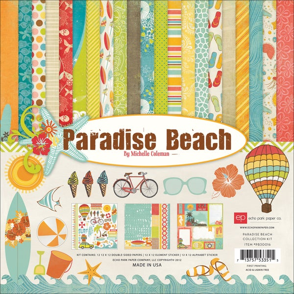 "Paradise Beach Collection Kit 12""X12""-"