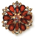 Styled by Tori Spelling (TM) Rhinestone Flower Pendant-Gold And Topaz 1/Pkg