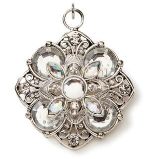 Styled by Tori Spelling (TM) Flower Pendant-Silver W/Crystal Rhinestones 1/Pkg