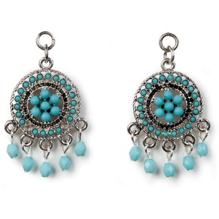 Styled by Tori Spelling (TM) Small Pendant Pair-Silver And Turquoise 2/Pkg