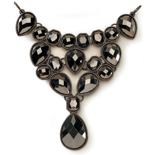 Styled by Tori Spelling (TM) Statement Bib Necklace Bottom-Hematite 1/Pkg