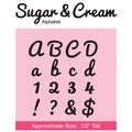 "CottageCutz Die 4""X8""-Sugar & Cream Alphabet Made Easy"