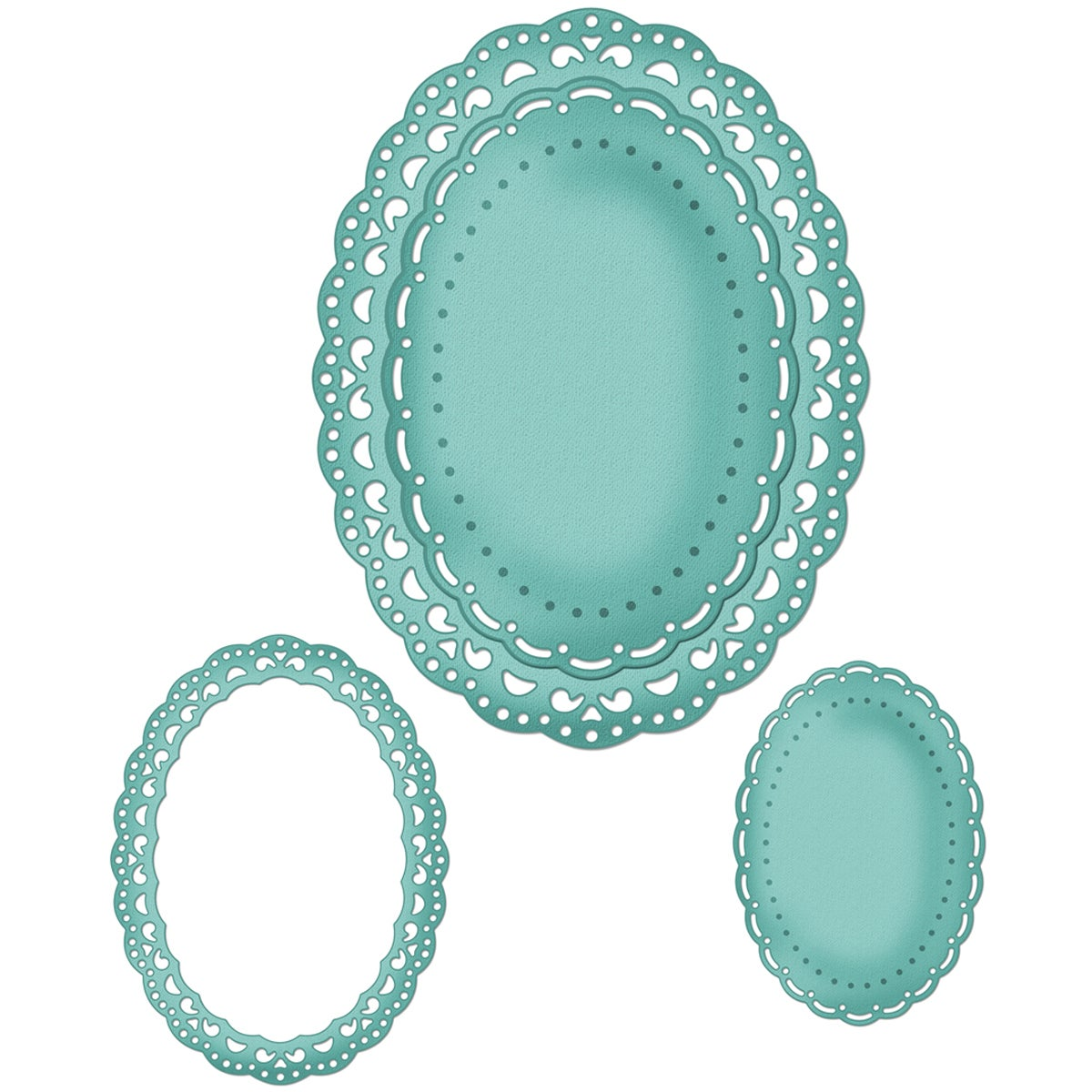 CottageCutz Die 4X6-Oval Doily & Frame Made Easy