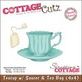 "CottageCutz Die 4""X4""-Teacup With Saucer & Tea Bag Made Easy"