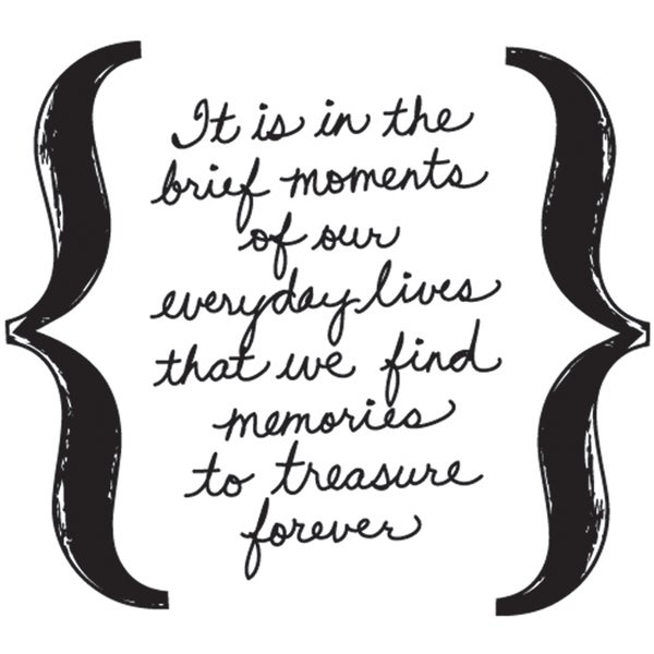 "Mounted Rubber Stamp 1.5""X1.5""-Brief Moments"