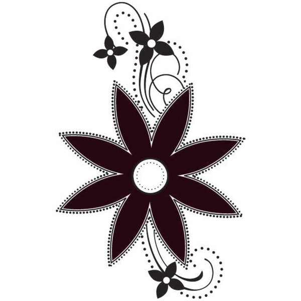 Mounted Rubber Stamp 1.5X2-Graphic Flower