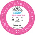 Little Classics Mini Rubber Mounted Stamp-Alphabet Typewriter