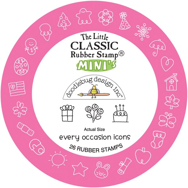 Little Classics Mini Rubber Mounted Stamp-Every Occasion Icons