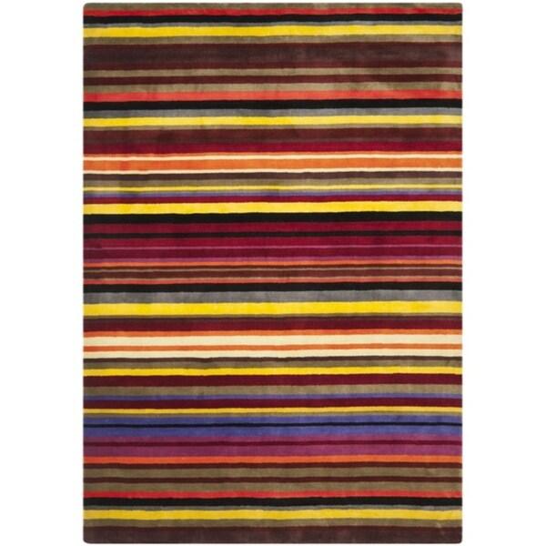 Safavieh Handmade Rodeo Drive Red Rainbow Stripe Rug (7'6 x 9'6)