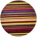 Handmade Rodeo Drive Red Rainbow Stripe Rug (5'9 Round)